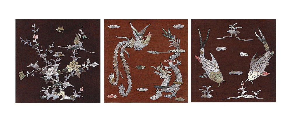 Mother of pearl inlay - and traditional Chinese Carvings are available as an option on all of our furniture - just ask