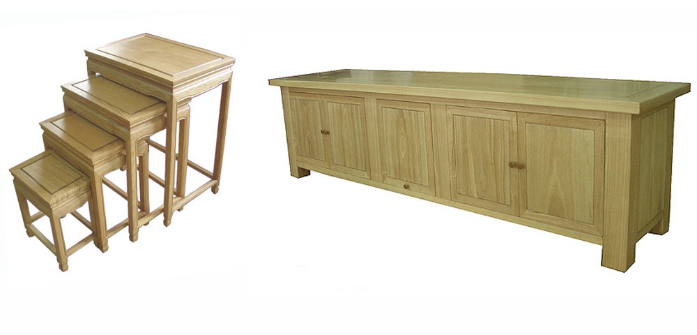 We also now offer a more contemporary range of furniture using Ashwood ... same factory - same quality - different style