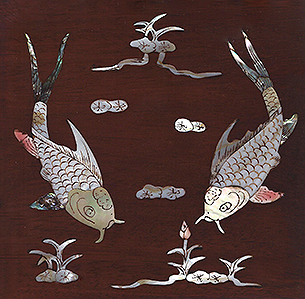Fish Design Mother of Pearl INlay