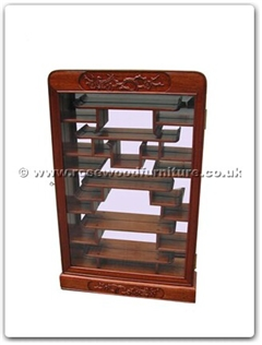 Rosewood Furniture Range  - ff114r20whs - Small display cabinet f and b design