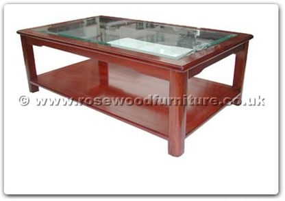 Rosewood Furniture Range  - ff121r29mcof - Ming style bevel glass top coffee table