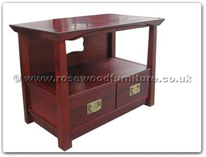 Rosewood Furniture Range  - ff123r1stv - Shinto style t.v. cabinet with 2 drawers