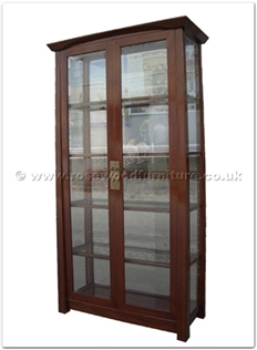 Rosewood Furniture Range  - ff142r41gcab - Shinto style display cabinet - 2 glass doors