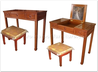 Rosewood Furniture Range  - ff27g35dtab - Dressing table with open mirror and stool