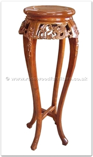 Rosewood Furniture Range  - ff33f25fl - Round flower stand dragon design - flower carved