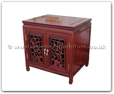 Rosewood Furniture Range  - ff47e18acf - Audio cabinet open f&b carved w/2 doors
