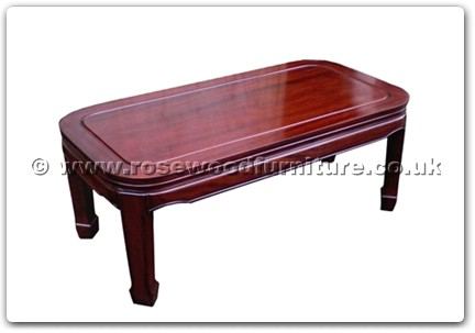 Rosewood Furniture Range  - ff47e3cofp - Round corner coffee table plain design