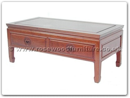 Rosewood Furniture Range  - ff7037l - Coffee table with 2 drawers longlife design