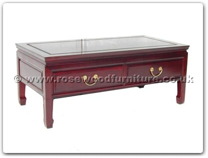 Rosewood Furniture Range  - ff7037p - Coffee table with 2 drawers plain design
