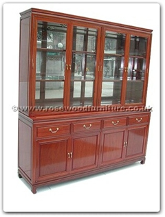 Rosewood Furniture Range  - ff7047mp - Buffet plain design with top spot light and mirror back
