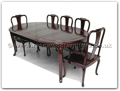 Rosewood Furniture Range  - ff7055f - Oval dining table french design with 2+6 chairs