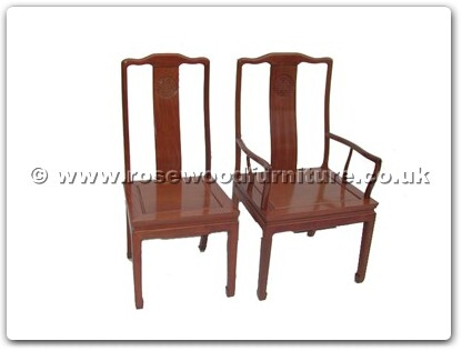 Rosewood Furniture Range  - ff7055lcarmchair - Dining arm chair longlife design excluding cushion