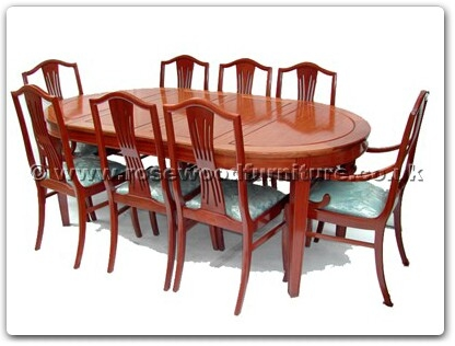 Rosewood Furniture Range  - ff7055m - Monaco style oval dining table with 2+6 chairs