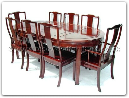 Rosewood Furniture Range  - ff7055p - Oval dining table plain design with 2+6 chairs