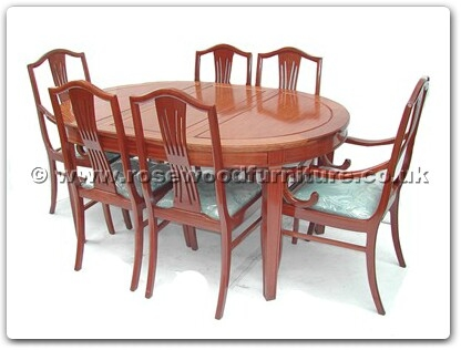 Rosewood Furniture Range  - ff7302m - Monaco style oval dining table with 2+4 chairs