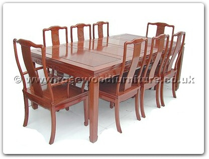 Rosewood Furniture Range  - ff7305l - Sq dining table longlife design with 2+6 chairs