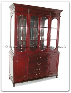 Rosewood Furniture Range  - ff7310 - Queen ann leg cabinet with mirror back and spotlight
