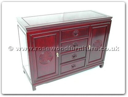 Rosewood Furniture Range  - ff7313l - Buffet with 4 drawers and 2 doors longlife design