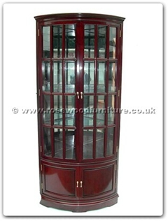 Rosewood Furniture Range  - ff7315b - Corner cabinet french design with spot light and mirror back