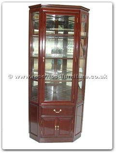 Rosewood Furniture Range  - ff7316p - Corner cabinet plain design with spot light and mirror back