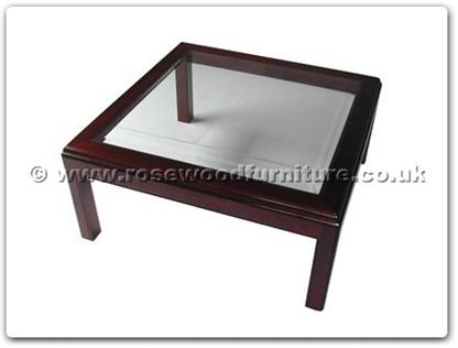 Rosewood Furniture Range  - ff7329 - Bevel glass top coffee table