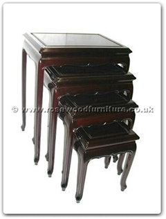 Rosewood Furniture Range  - ff7336q - Queen ann legs nest table set of 4