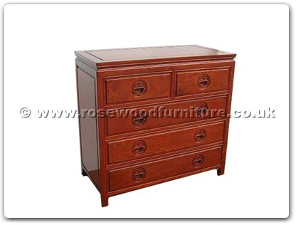 Rosewood Furniture Range  - ff7354l - Chest of 5 drawers longlife design