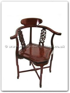 Rosewood Furniture Range  - ff7367b - Corner chair flower  and  bird design