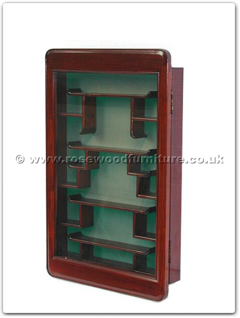 Rosewood Furniture Range  - ff7369pf - Small display cabinet plain design with green fabric back
