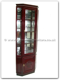 Rosewood Furniture Range  - ff7416l - Corner cabinet longlife design with spot light and mirror back