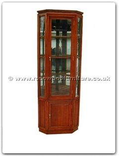 Rosewood Furniture Range  - ff7416p - Corner cabinet plain design with spot light and mirror back