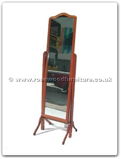Rosewood Furniture Range  - ff7426c - Curved Top Wood Frame Mirror Stand