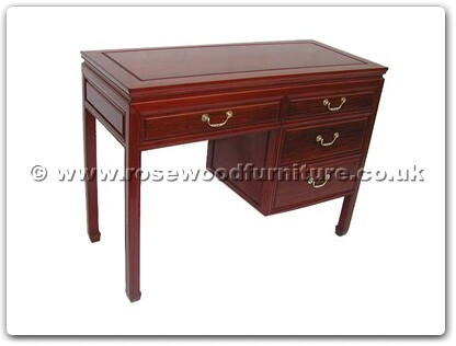 Rosewood Furniture Range  - ff7442p - Desk with 4 drawers plain design