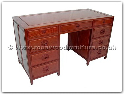 Rosewood Furniture Range  - ff7443l - Desk with 9 drawers longlife design
