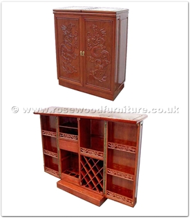 Rosewood Furniture Range  - ff7448d - Sq bar full dragon design