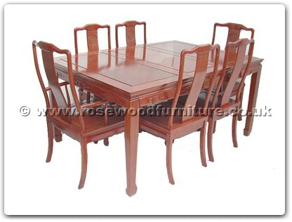 Rosewood Furniture Range  - ff7605l - Sq dining table longlife design with 2+4 chairs