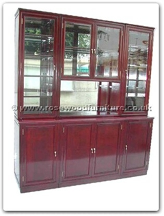 Rosewood Furniture Range  - ff84wall - Wall unit with Mirror Back with Glass Doors with Spotlight