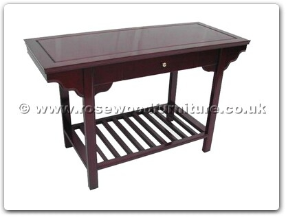 Rosewood Furniture Range  - ffa48hall - Hall Table With Drawer and Shelf