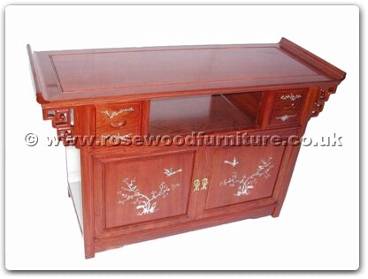 Rosewood Furniture Range  - ffastvm - Altar Sharp T.V. Cabinet With M.O.P.