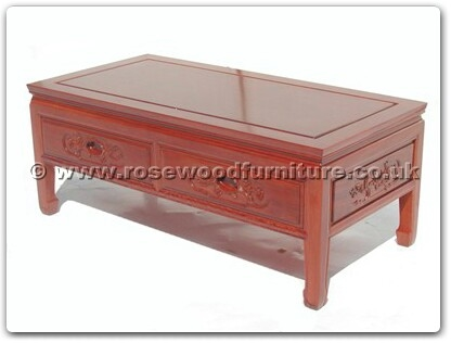 Rosewood Furniture Range  - ffbcoffee - Coffee table with 2 drawers f and b design