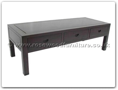 Rosewood Furniture Range  - ffbwcoffee - Black Wood coffee table with 3 drawers