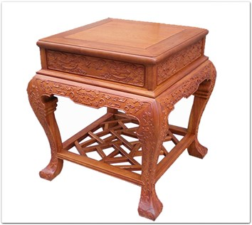 Rosewood Furniture Range  - ffbwst - Curved legs side table w/full carved