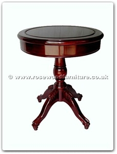 Rosewood Furniture Range  - ffcrtable - Round Side Table With Pedestal Legs
