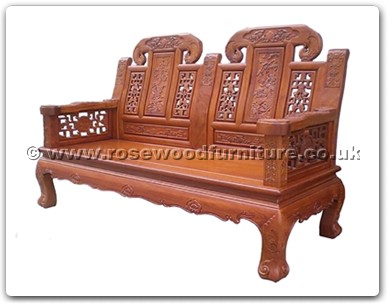 Rosewood Furniture Range  - ffcujx2sf - Curved legs 2 seaters sofa ji-xiang design