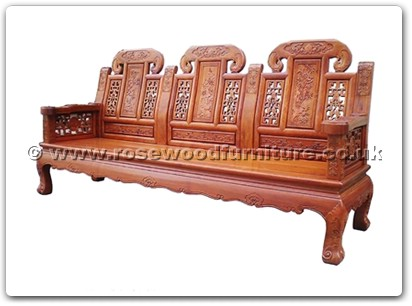 Rosewood Furniture Range  - ffcujx3sf - Curved legs 3 seaters sofa ji-xiang design