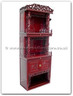 Rosewood Furniture Range  - ffd32alt - Altar Cabinet Dragon Design
