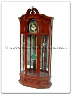 Rosewood Furniture Range  - ffdclock - Grandfather clock with  spot light  and  german movement