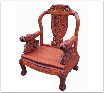 Rosewood Furniture Range  - ffdsfcha - Sofa arm chair dragon design
