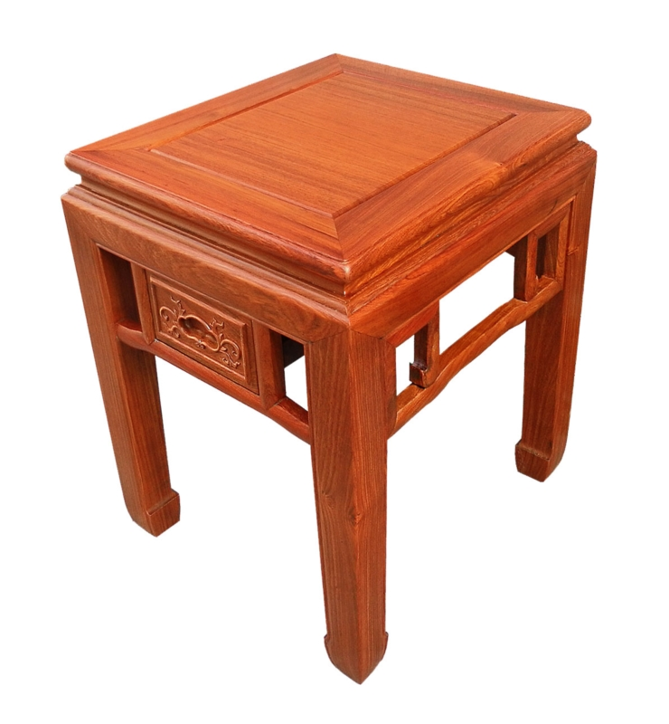 Rosewood Furniture Range  - ffend1df - end table flower design w/1 drawer