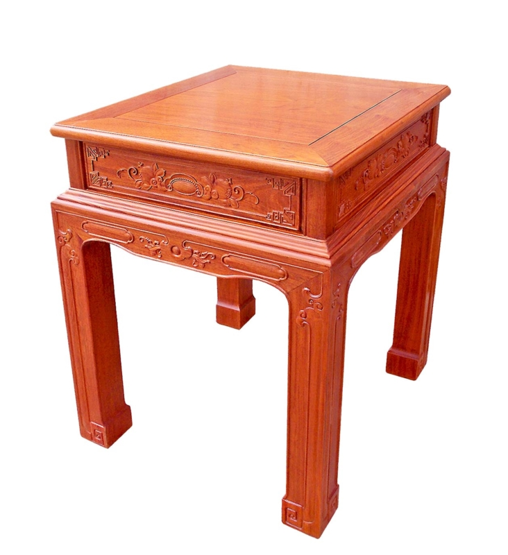 Rosewood Furniture Range  - ffendfc - end table w/full carved
